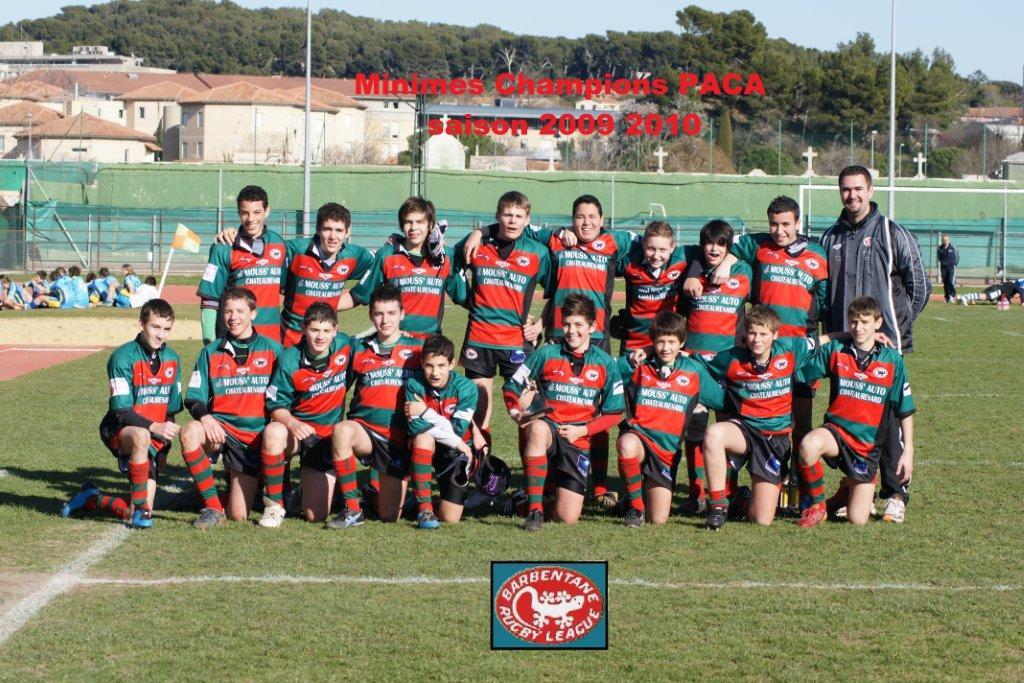 minimes champions paca saison 2009/2010
