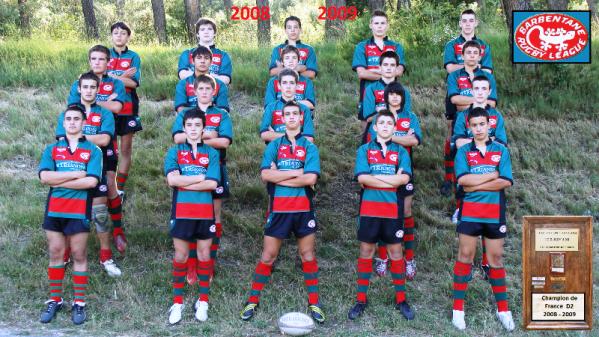 minimes champions 2eme division 2008/2009